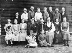 Gruppebilde. Ryeng skole 1934