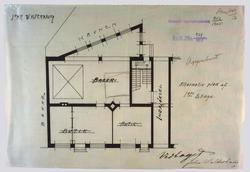 Hr. Bager John Walderhaugs nybygning i Toldbodgaden. [Plante
