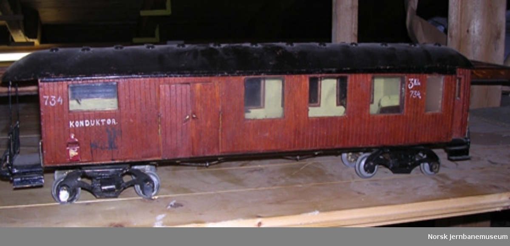 Modell av personvogn litra CFo nr. 734