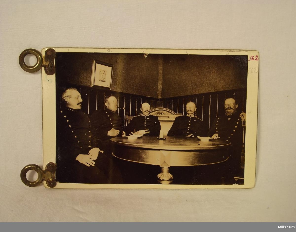 Fotografi föreställande beväringsmötet 1891.