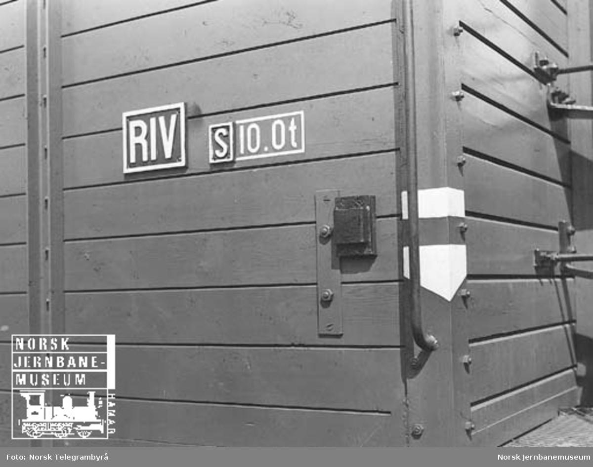 NSB godsvogner : detaljer, påskrifter
