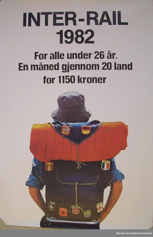 Reklameplakat : Inter-Rail 1982