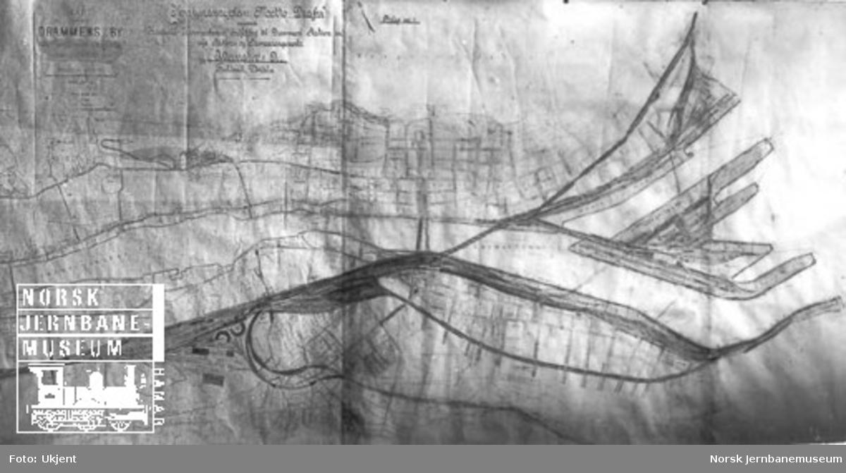 Arkitekttegning : Konkurranse vedr. utforming av Drammen stasjon og havn