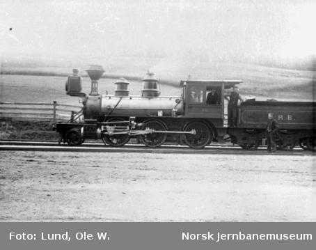 Rørosbanens damplokomotiv type XVII nr. 25 med personalet