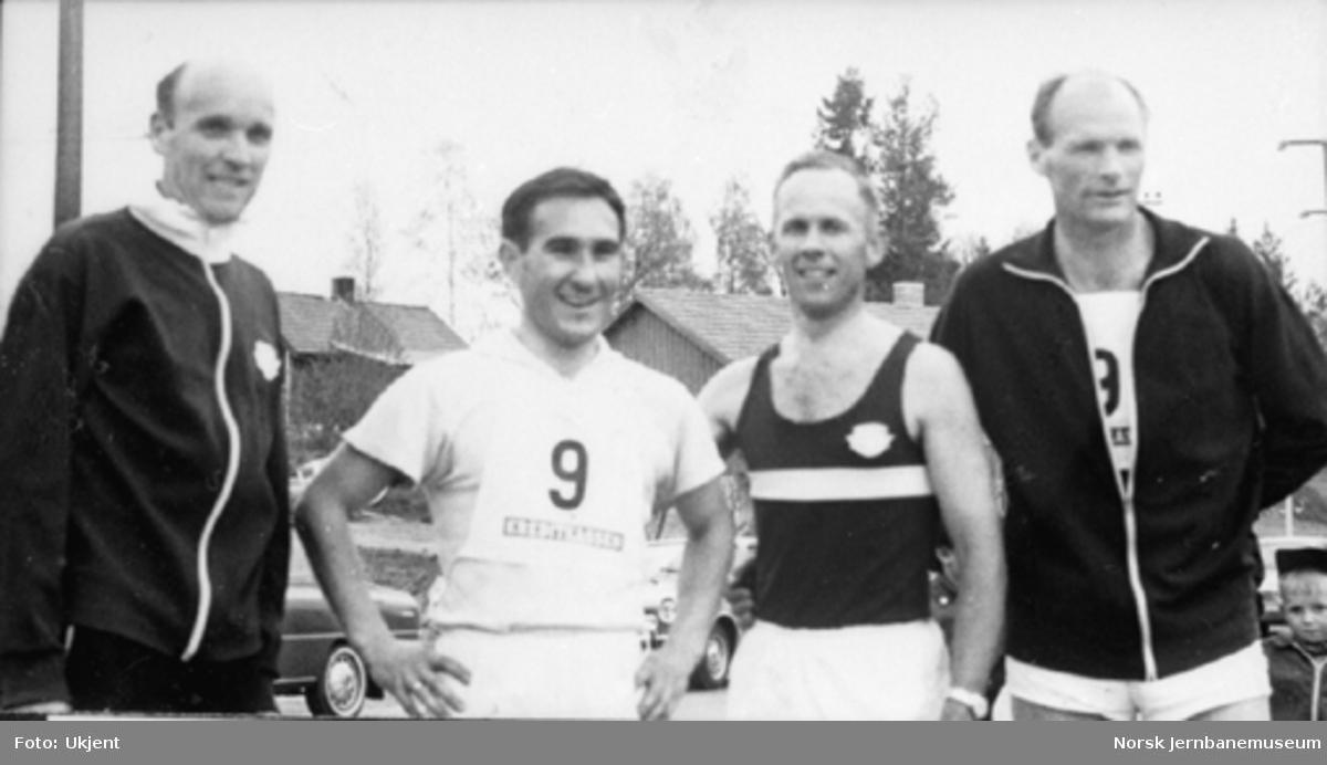 Laget fra NSB Hamar, som vant 4 x 1000 meter terrengstafett i 1970
