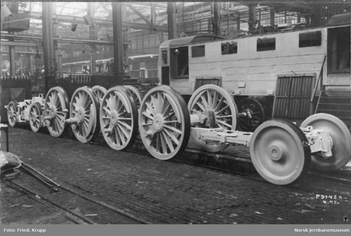 Byggingen av damplokomotiv type 49c, Krauss-Helmholzboggiene og drivhjulene