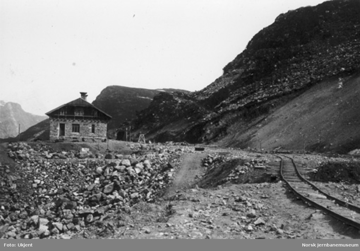 Myrdal stasjon under anleggsperioden