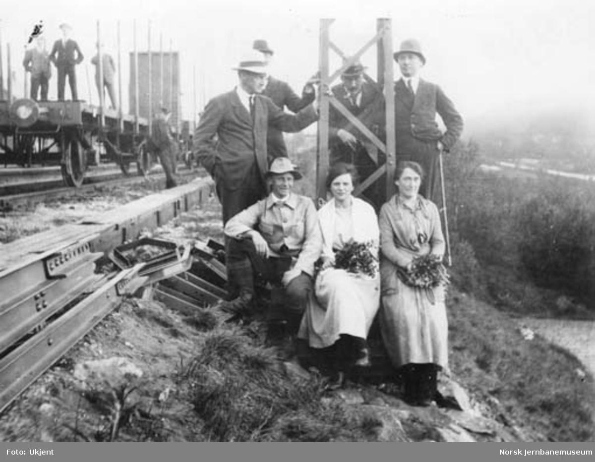 Ofotbanens elektrifisering : første mast reist på Narvik stasjon