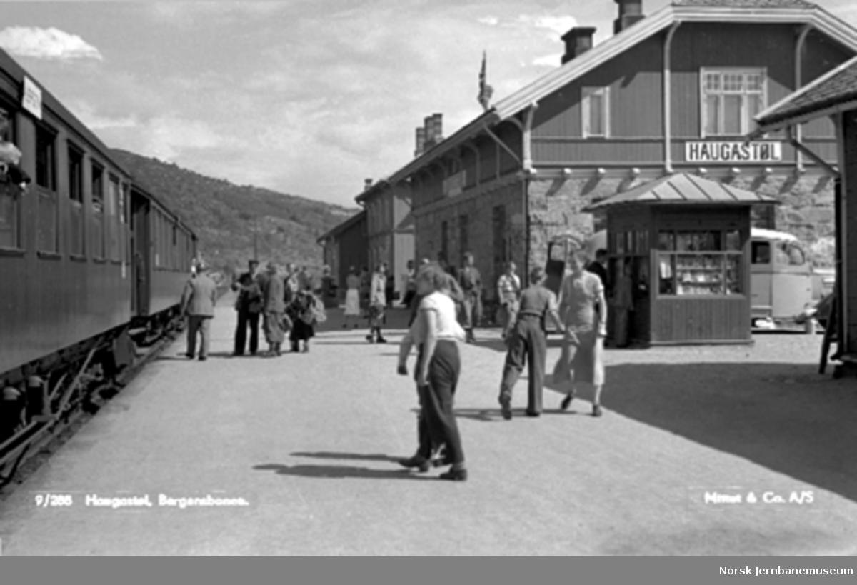 Persontog på Haugastøl stasjon