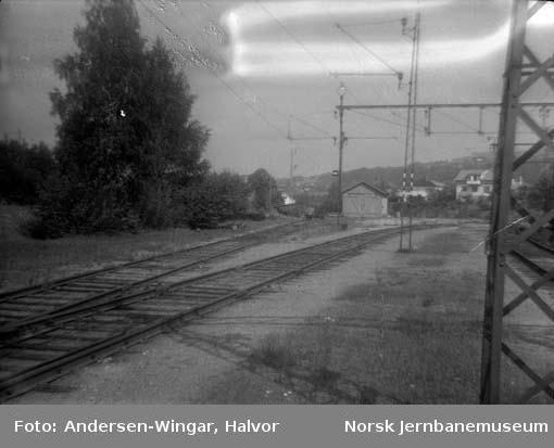 Lierbanens trasé ut fra Lier stasjon