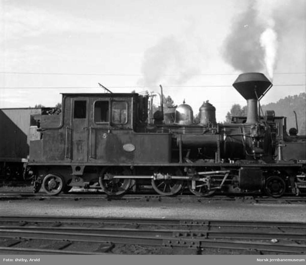 Setesdalsbanens damplokomotiv type XXI nr. 5