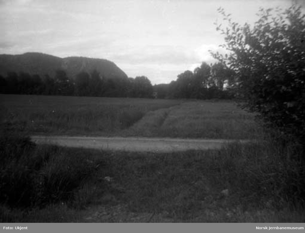 Lierbanens nedlagte trasé ved Skjeggerud holdeplass