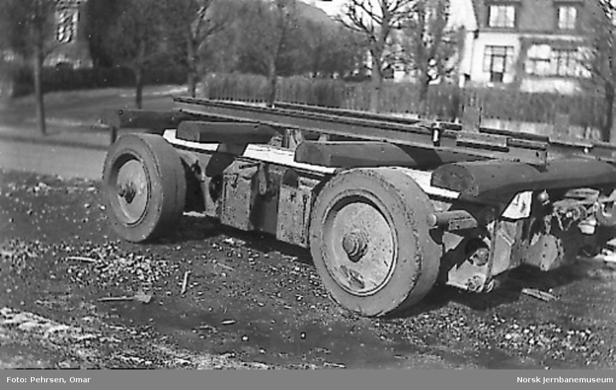 Nytt museum på Martodden : Flyvåpenets tilhenger som ble brukt ved materielltransporten