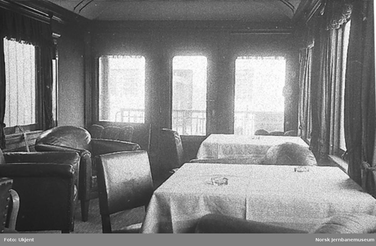 Interiørbilde fra personvogn litra ABo nr. 118