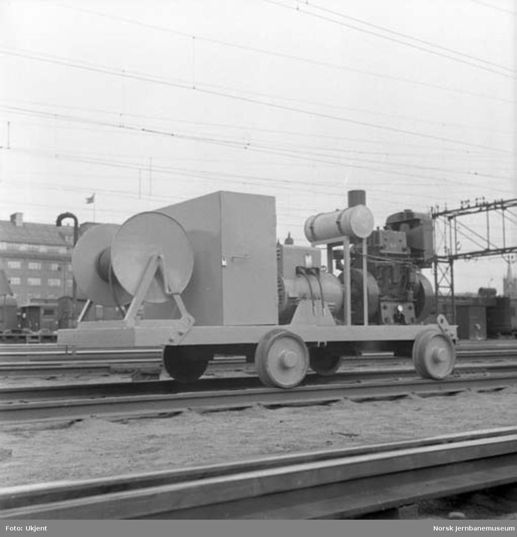 Transportable sveiseaggregater for reparasjonssveising langs linjen
