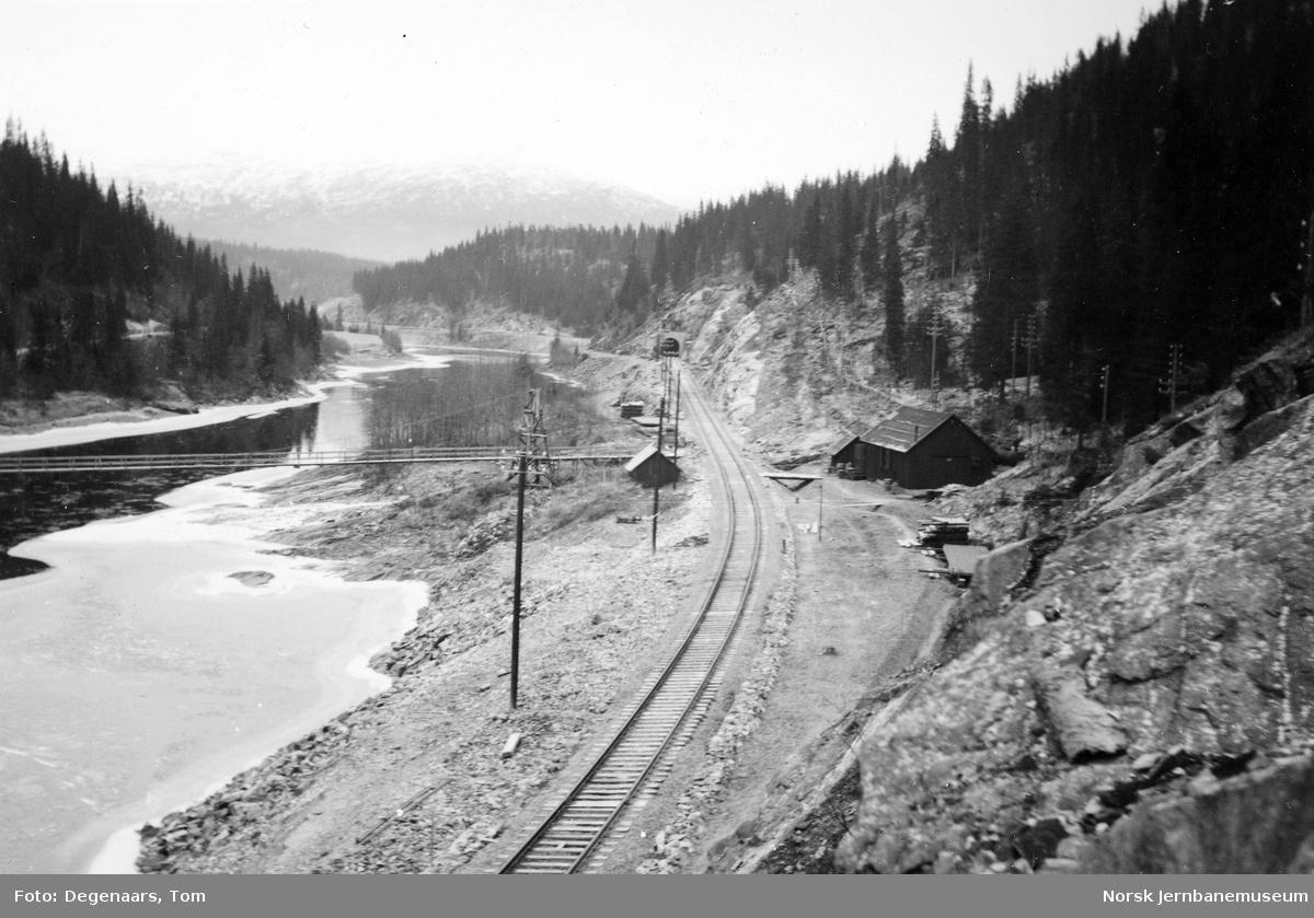 Nordlandsbanens trasé mellom Gomea og Skonseng