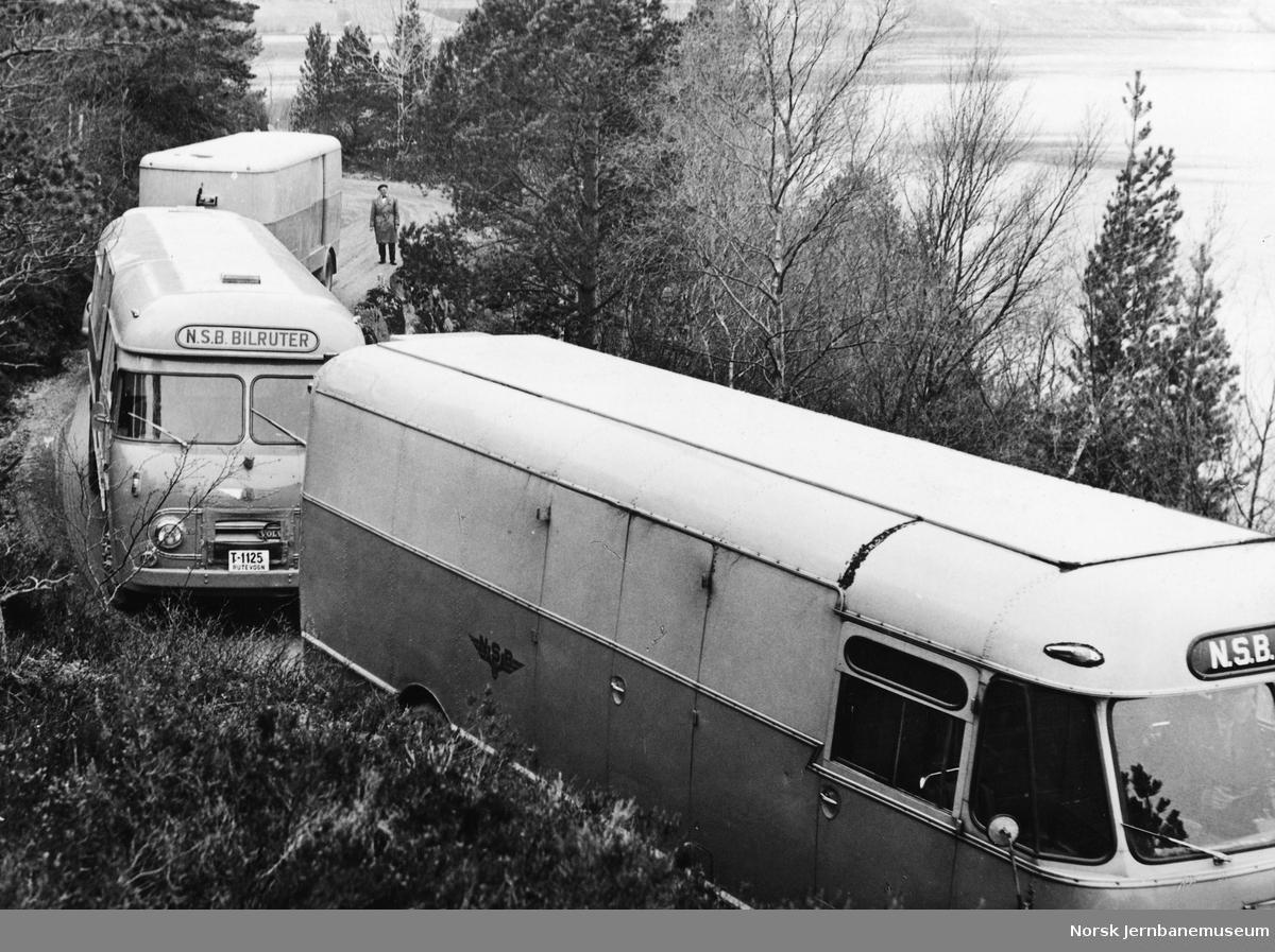 Godsbiler fra NSB Ålesundruten i Hjelviksvingene