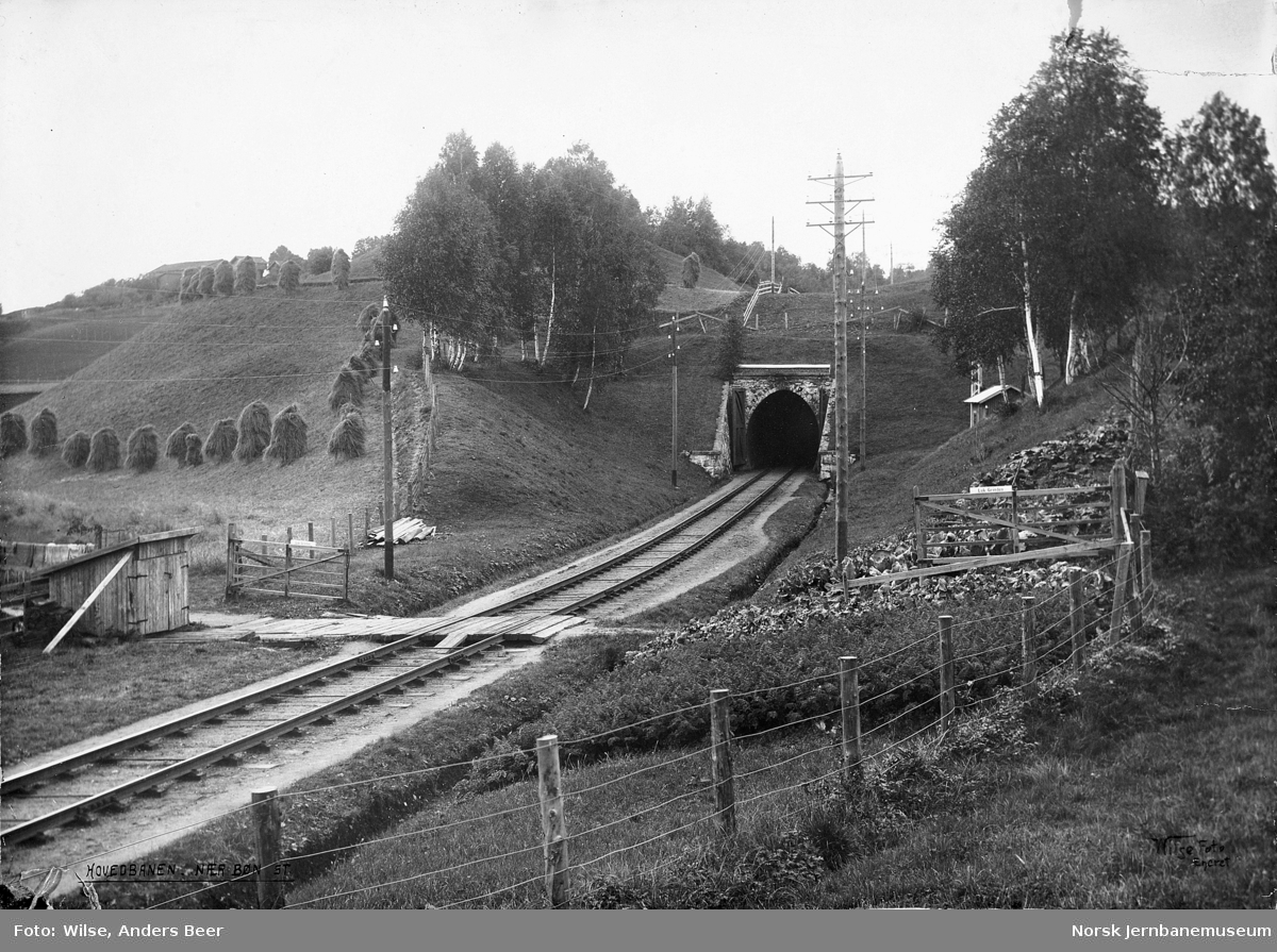 Hovedbanen sør for Løken tunnel
