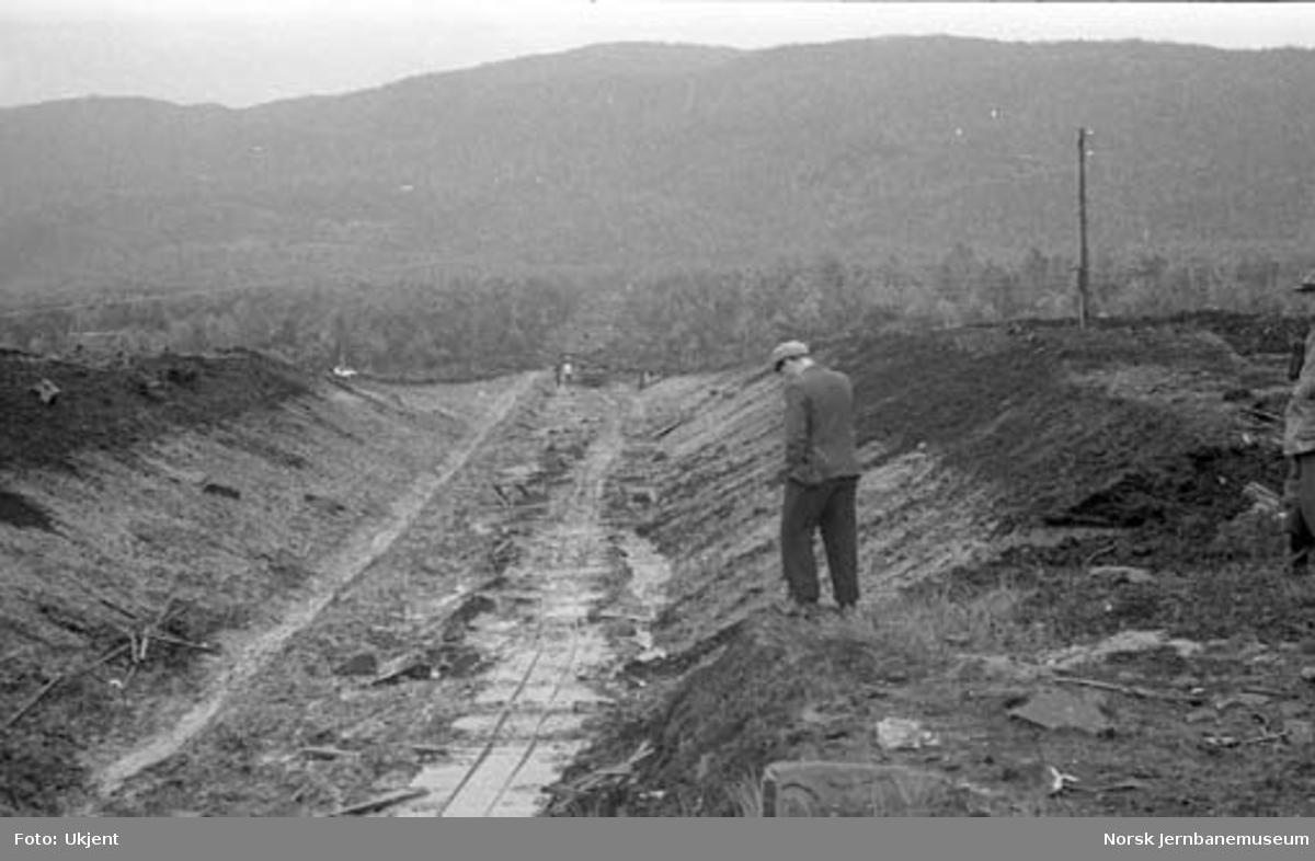 Nordlandsbaneanlegget : skjæring mot Svarthammeren tunnel