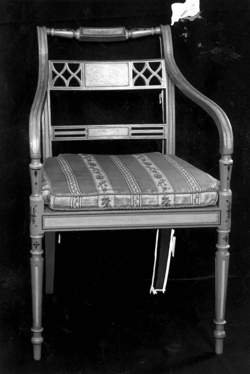 Klassisisme, stoler med armlene, Stol