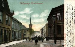 Postkort, nyttårshilsen. Kristiansund, Møre og Romsdal.