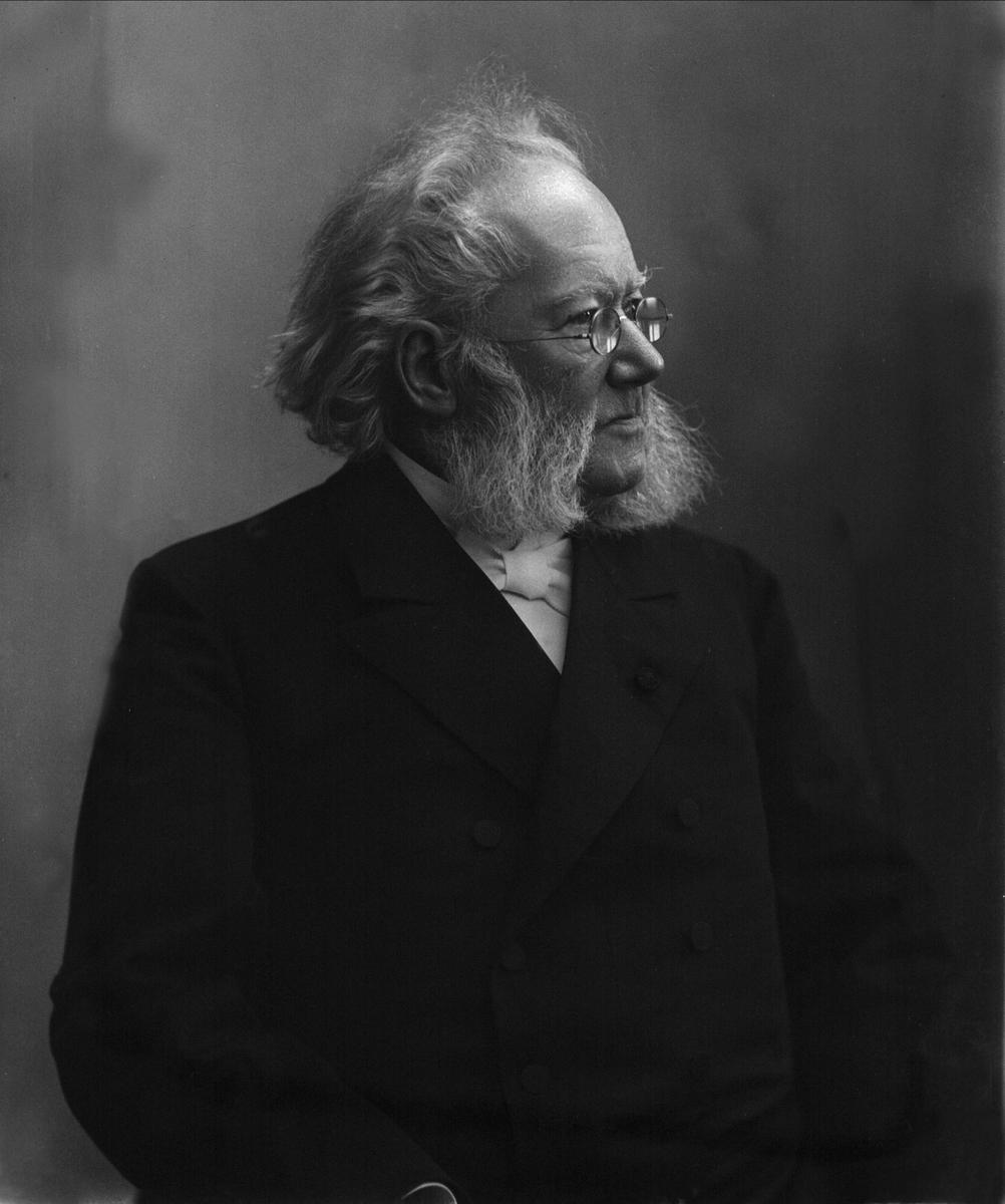 Portrett av Henrik Ibsen.