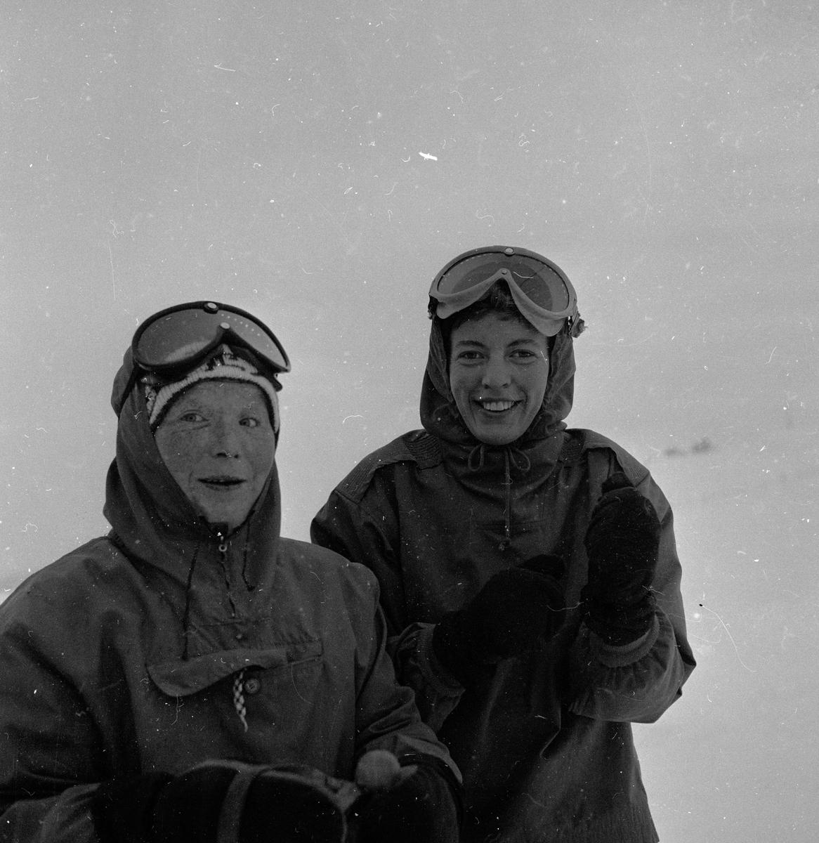 Oppdal, 17.12.1955, opptrening til Vinter-Olympiaden 1956.