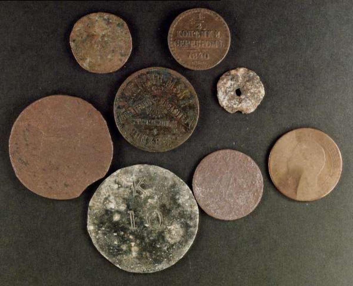 Mynt - Upplandsmuseet / DigitaltMuseum : franskt porslin : Inredning