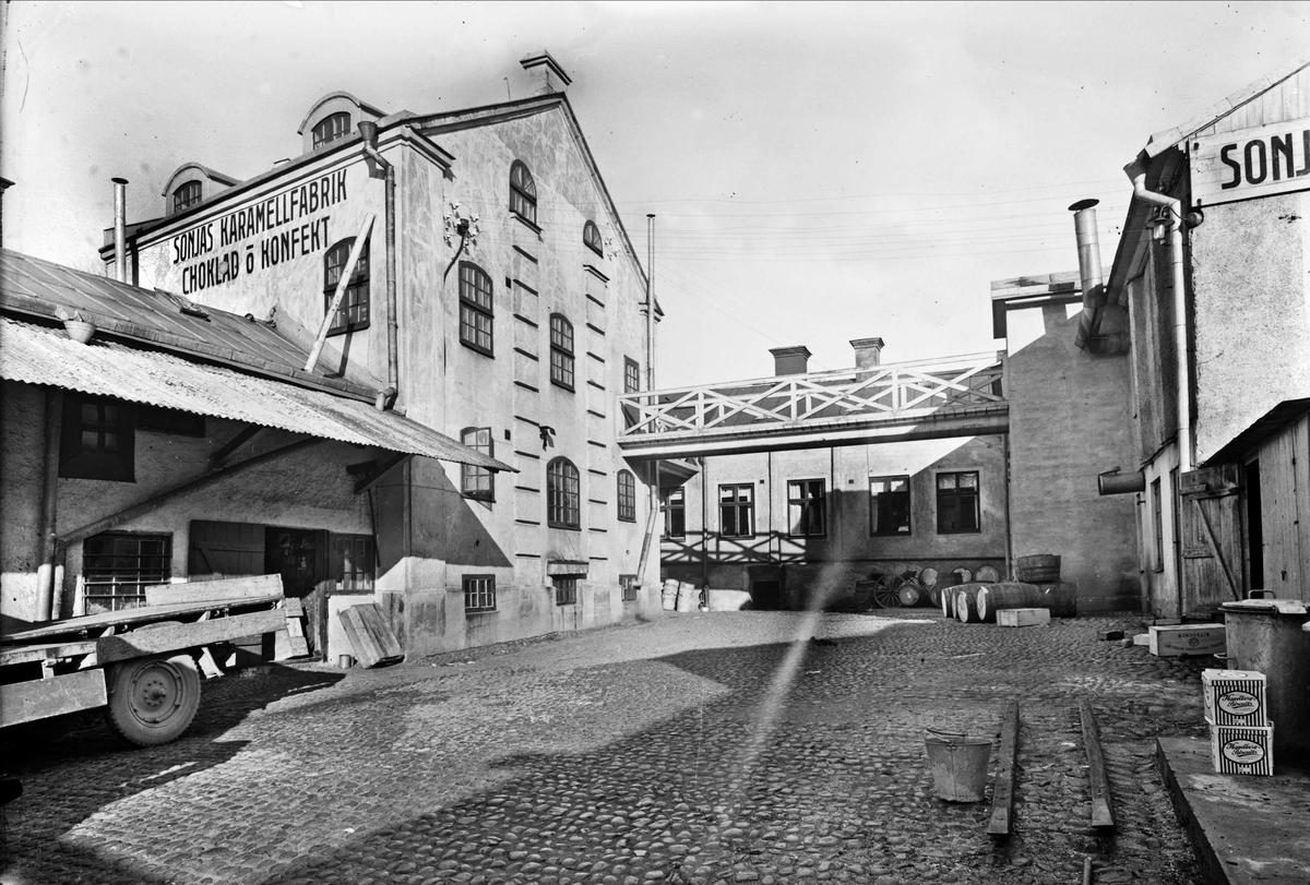Innergården, AB Karamell- & Chokladfabriken Sonja, Svartbäcksgatan 26, Uppsala 1935