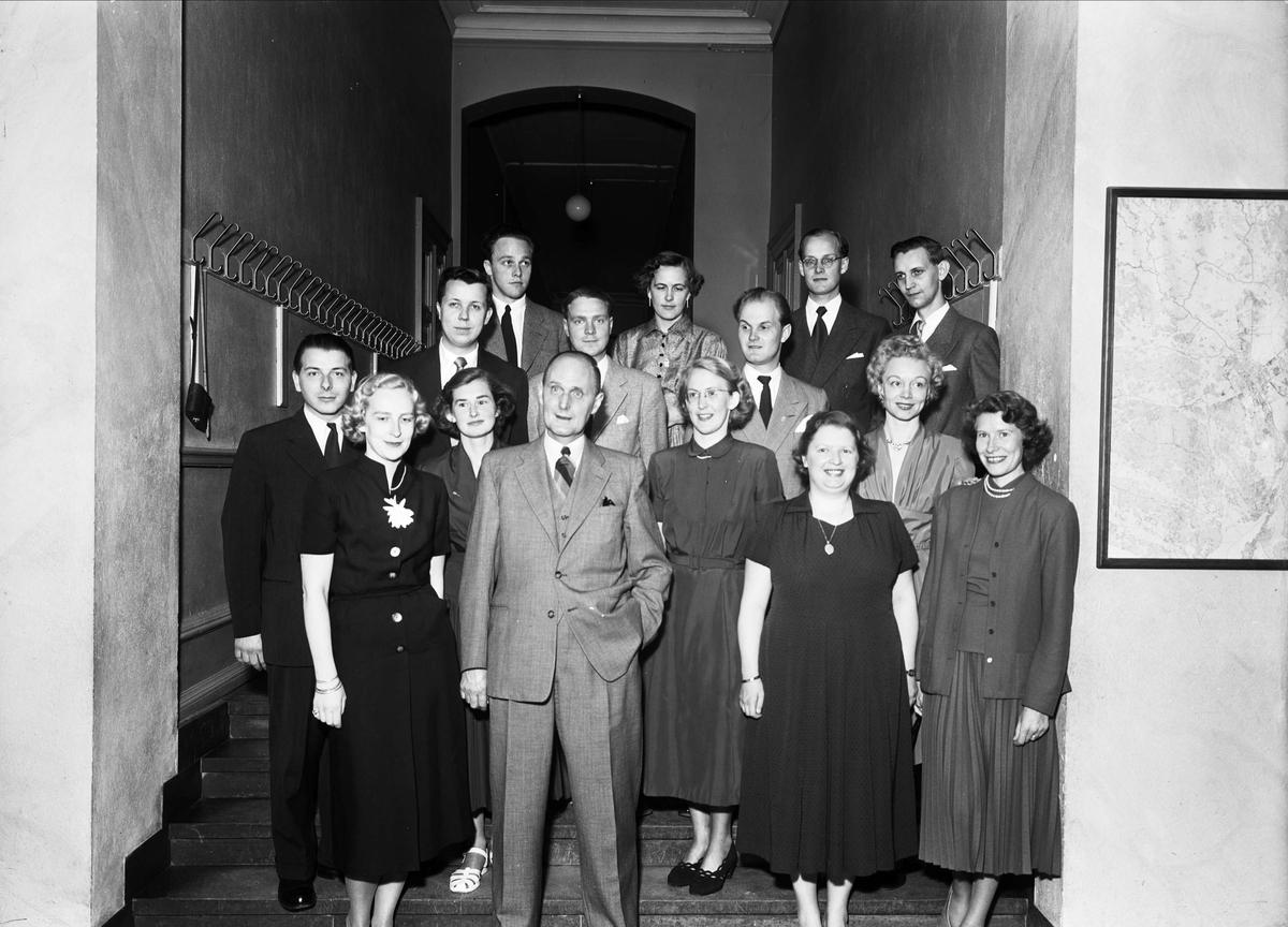 Jubilerande studenter i Högre Allmänna Läroverket, Uppsala maj 1953
