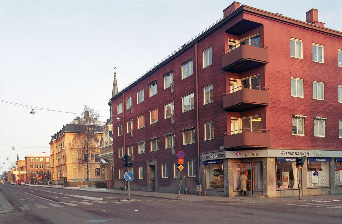 Bebyggelse i kvarteret Gimle, Kungsgatan, Uppsala 1992