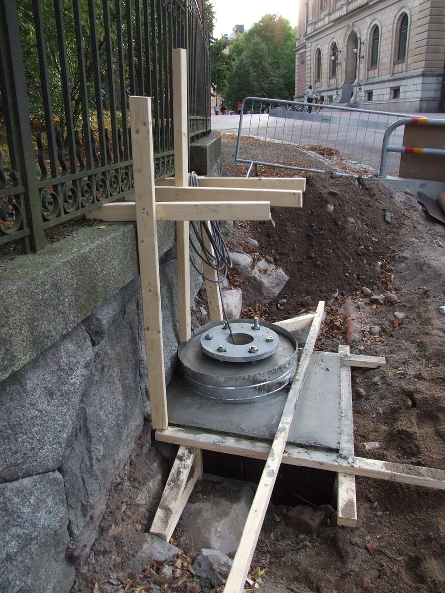 Arkeologisk schaktningsövervakning, Universitetsparken, Uppsala 2009