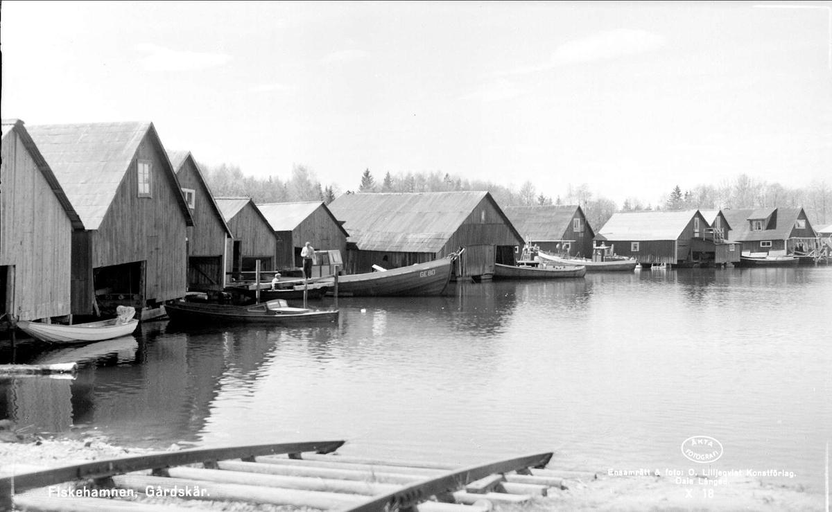 Fiskehamnen i Gårdskär, Älvkarleby socken, Uppland 1962