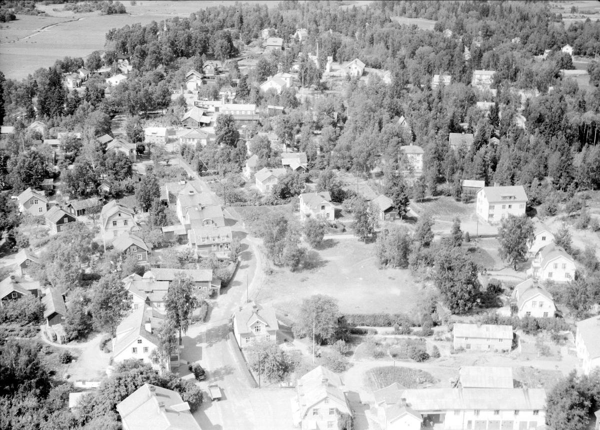 Flygfoto över Örbyhus, Uppland 1947