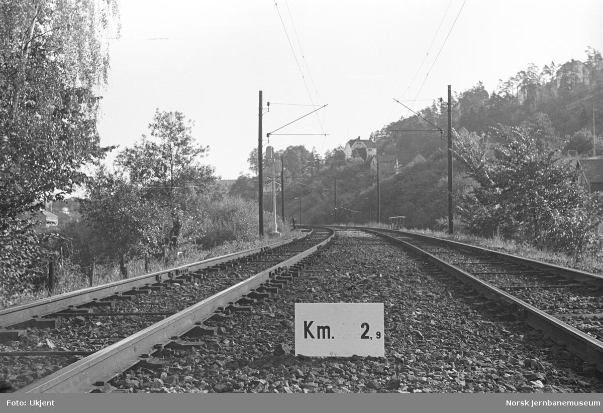 Hovedbanen : linjeføring km 2,9