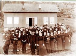 Bryllup på Håland i Grindheim, nå Audnedal.