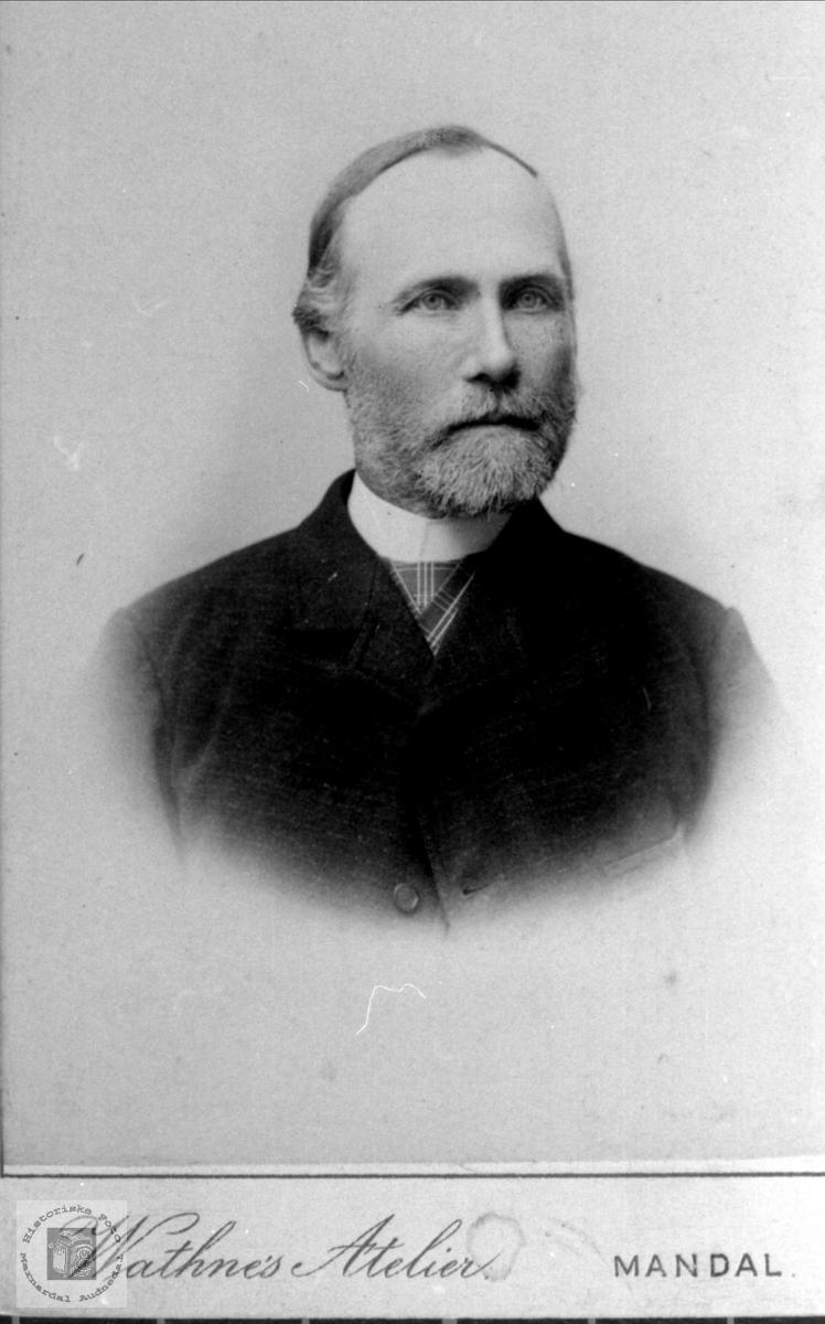 Portrett av Fredrik Skjeggestad, Bjelland.