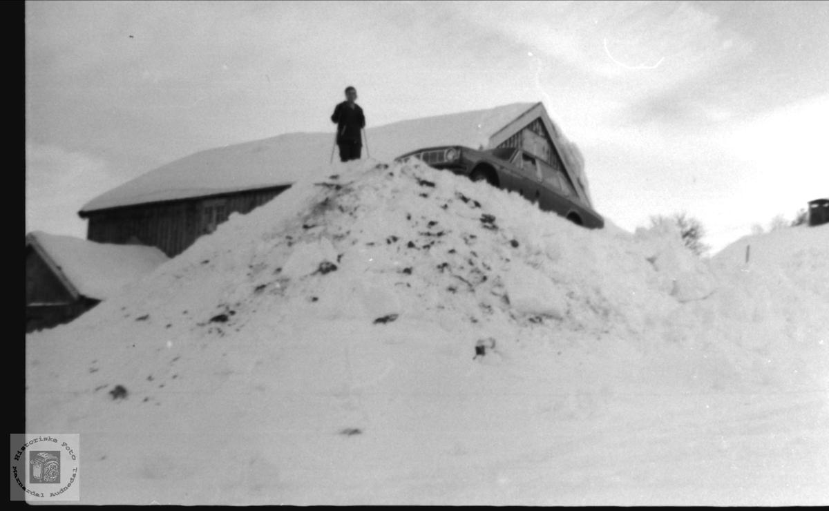 Snøvinter på Breland i Øylsebø.