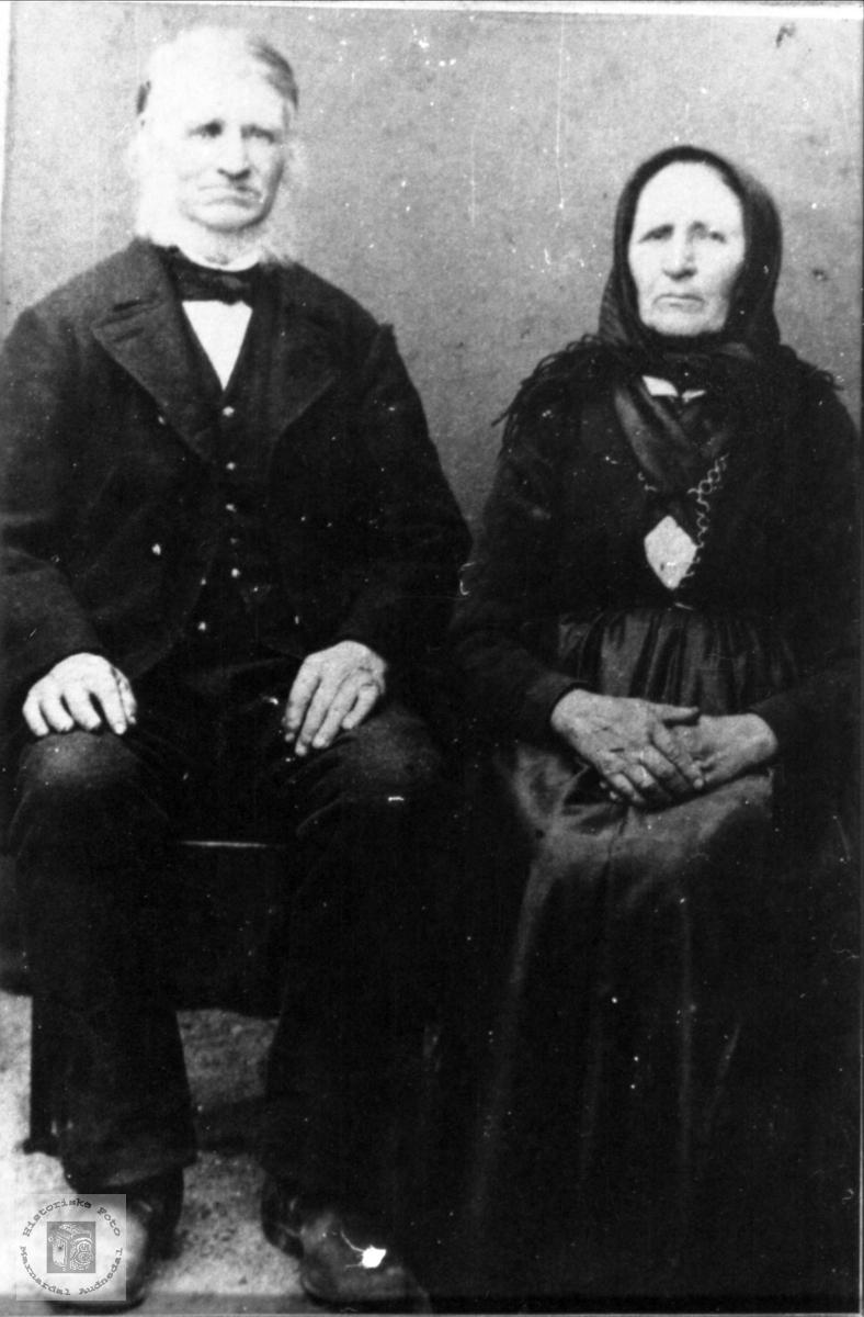 Ekteparet Salve og Anne Tobine Glomsåker, Laudal.