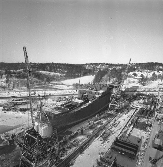 Dop och sjösättning av fartyg 184 M/S Hermion.