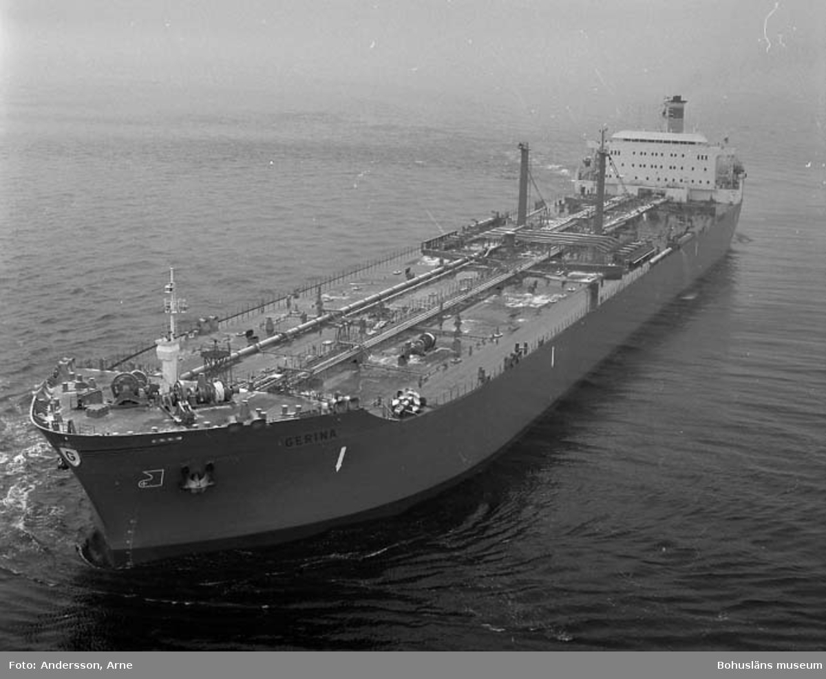 M/T Gerina DWT. 127.700 Rederi A/S Gerrards Rederi, Kristiansand Norge Kölsträckning 79-05-07 Nr. 305 Leverans 80-02-28 Tankfartyg.