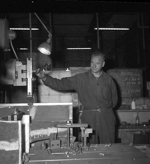 Maskinverkstaden. Arborrare William Hertz.