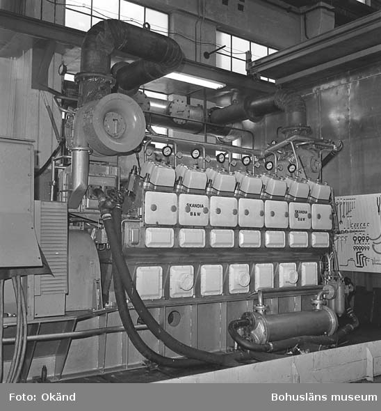 Visning av Burmeister o Wain´s motorer, Skandiaverken.
