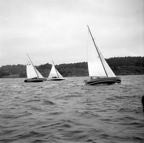 """Enligt notering: """"Ägirs Segling Aug 1949""""."""