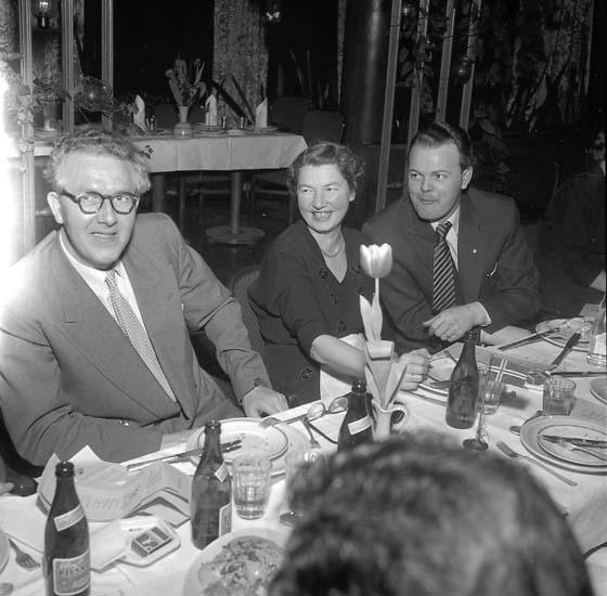 """""""Bohusläningens typografers fest (med norskar inbjudna) på Havet 16 februari 1957"""""""