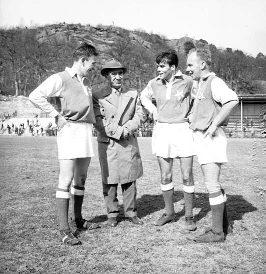 Fotboll Oddevold - Jönköping 1958.