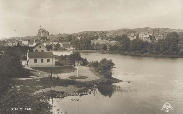 """Noterat på kortet: """"Strömstad."""" """"Alrik Hedlund Göteborg."""""""