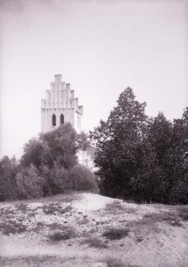 """Enligt text som medföljde bilden: """"Falsterbo, Kyrkan 2/9 08""""."""