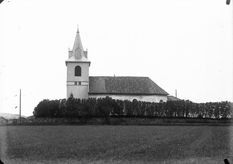 """Enligt fotografens noteringar: """"248 Håby kyrka omkr. år 1920."""""""