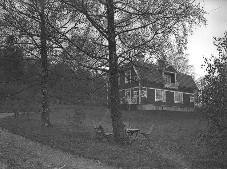 """Enligt fotografens noteringar: """"Förut Patron Kilmans. Melker Hansson Villa omkr. å 1912."""""""